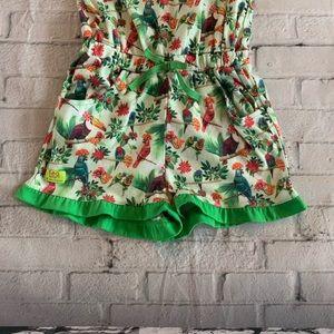 American Girl Pajamas - American Girl Rainforest PJ Romper Size Meduim